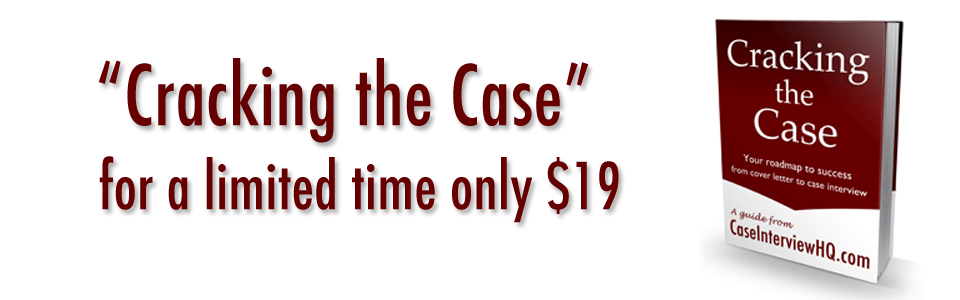 Case Interview Sale: the best book on case interview preparation