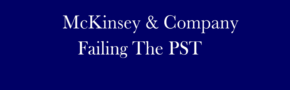 Failing the McKinsey PST