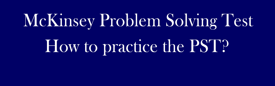 McKinsey PST practice