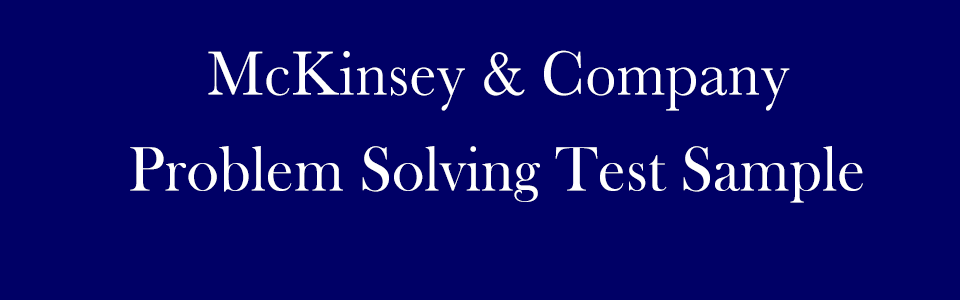 McKinsey PST Sample