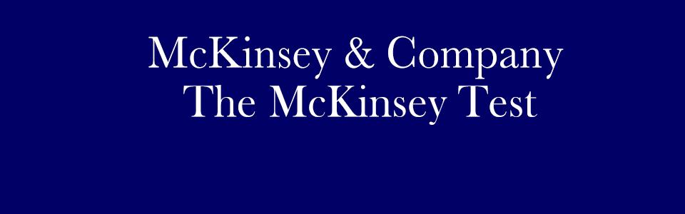 McKinsey Test